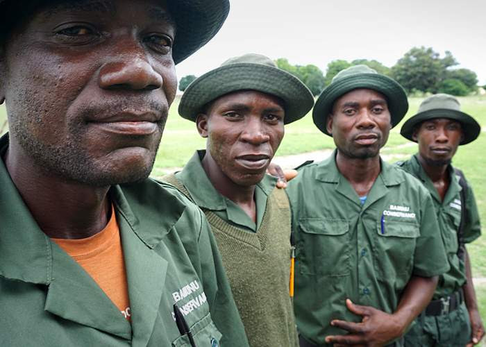 Conservancy rangers in Namibia
