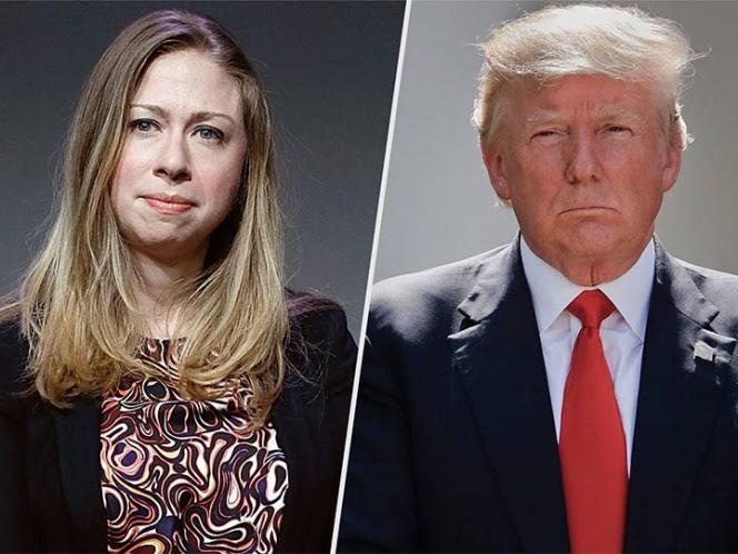 Chelsea Clinton tunde a Trump por referirse a ella en Twitter