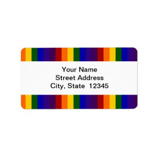 Rainbow Stripes shipping label
