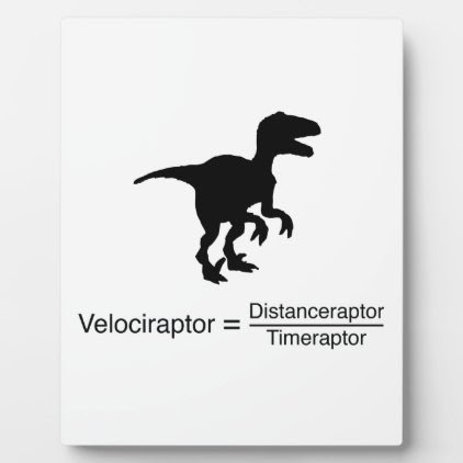 velociraptor funny science plaque