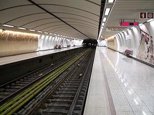 Acropolis station of Athens Metro system. The ...