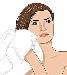 Image result for cartoon images of towel drying hair