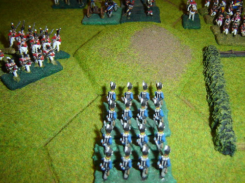 English counterattack in centre
