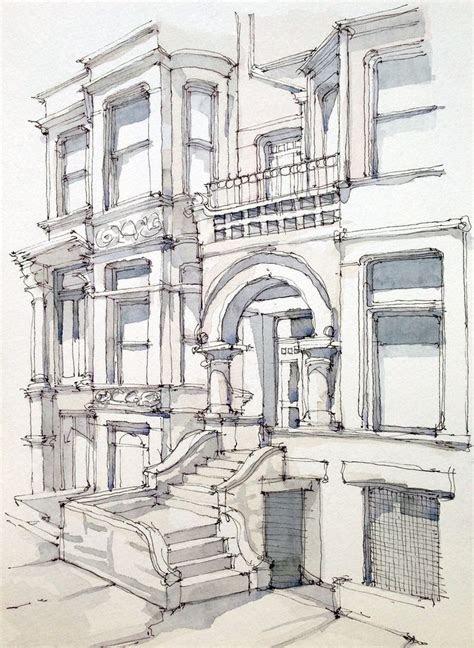 carroll st art watercolor   ink wash  drawings