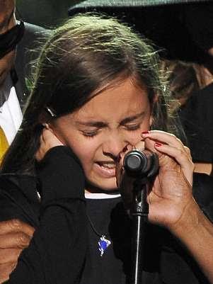 Paris chora na homenagem ao pai, em LA, em 2007 Foto: Getty Images