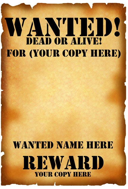 Wanted Poster Template (FBI and Old West, Free)