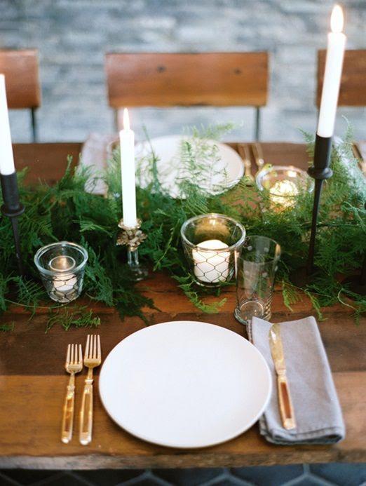 ein einfacher Farn, der Tischläufer ist sehr winterhart und kann verwendet werden, für rustikal -, Wald -, Berg-und viele andere Arten von Hochzeiten