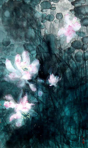 Lotus, Song Yügui, 77 x 52 cm