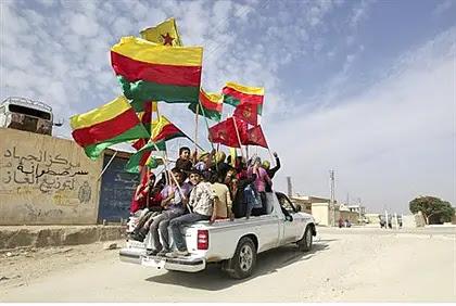 Kurds in Hasakah province in northeastern Syria (Rojava)