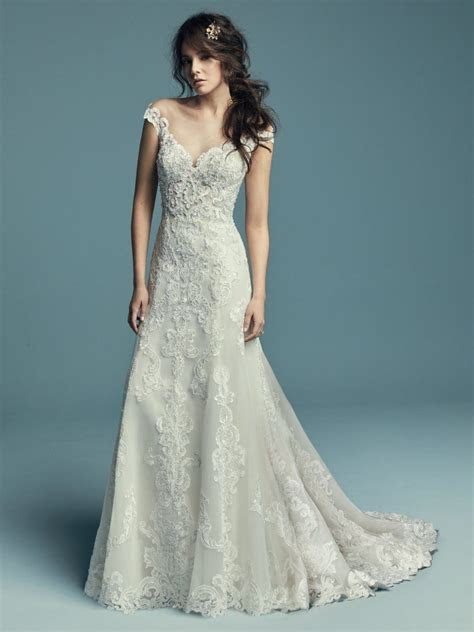 Serena (8MC655) Vintage lace Wedding Dress by Maggie Sottero