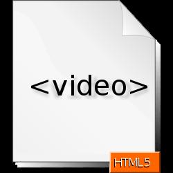HTML5 video icon