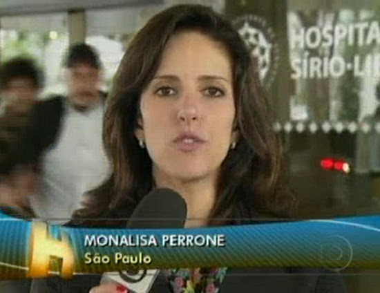 Monalisa Perrone foi empurrada durante transmissão ao vivo no Jornal Hoje