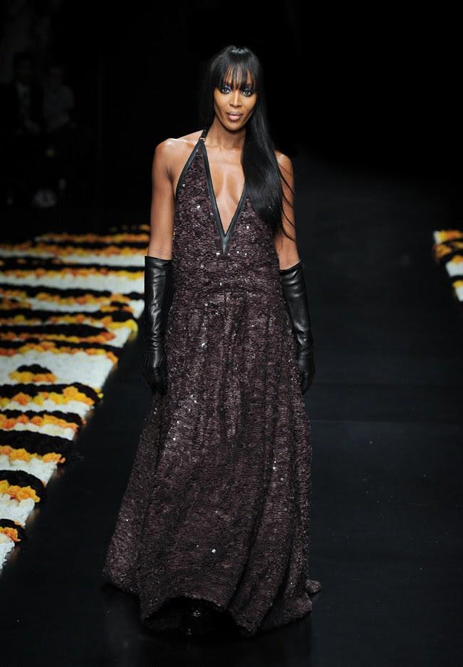 7 Naomi Campbell @ Roberto Cavalli FW1213 fashion show