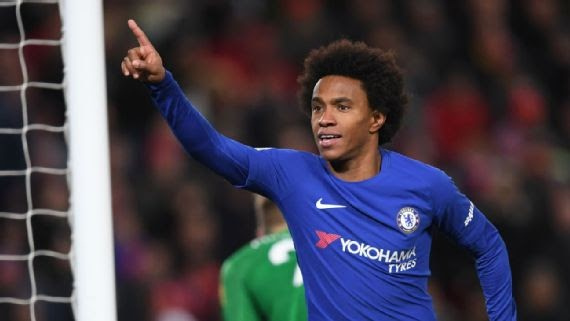 Chelsea finally 'accept' €75m bid from Manchester United for Willian
