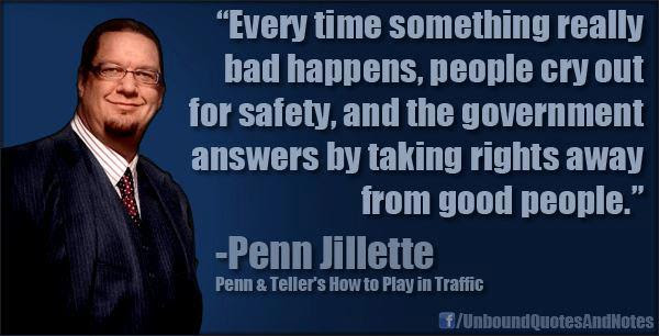 Penn Jillette - Everytime something bad happens... - Imgur