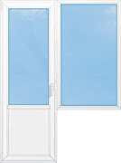 балконный блок глухой 2100*1550