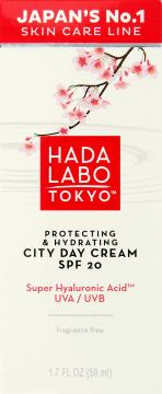 Hada Labo Tokyo, Protecting & Hydrating, ochronny krem nawilżający na dzień, SPF 20, 50 ml, nr kat. 260811