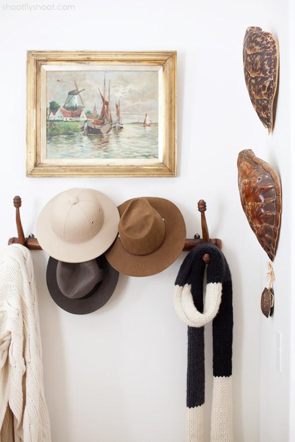 Atchison Home | Peg Rack | Hats | Scarves | Turtle Shells