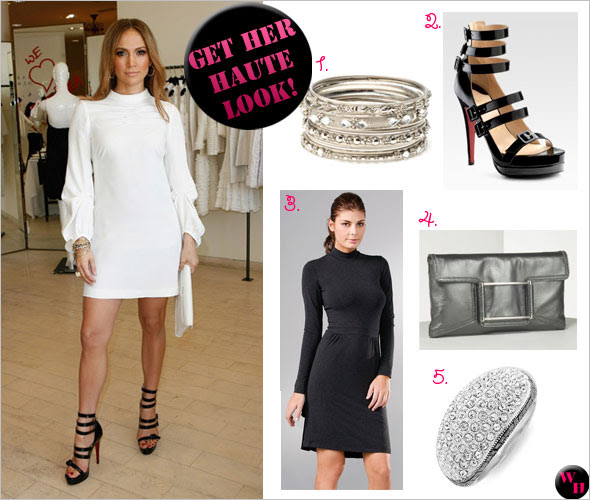 Get Her Haute Look: Jennifer Lopez at the Barneys New York launch of Andrea Lieberman's new collection, A.L.C. in Beverly Hills, California