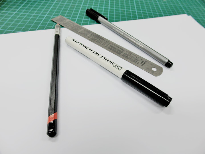 MDIS School of Fashion and Design drawing materials