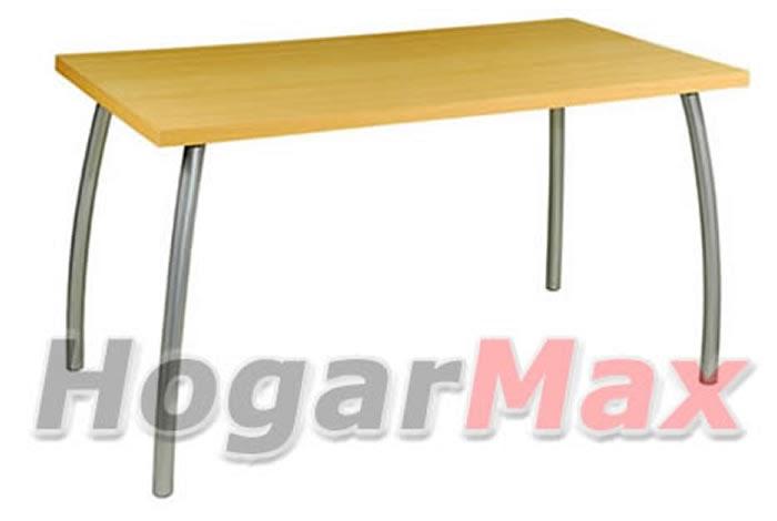 Hogarmax muebles herrajes mesas formica rectangulares for Comedor estructural