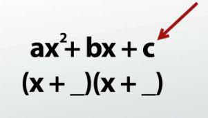 Factoring Quadratic Trinomials A 1 Mr Williams Math Class