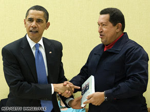 The presidential handshake between Barack Obama and Hugo Chavez spurred many comments.