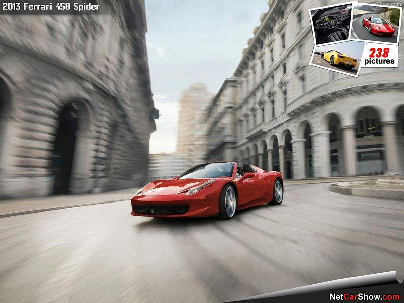 Ferrari 458 Spider - Front Angle, 2013, 800x600, 8 of 222