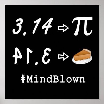 Pi vs. Pie Mind Blown! Poster