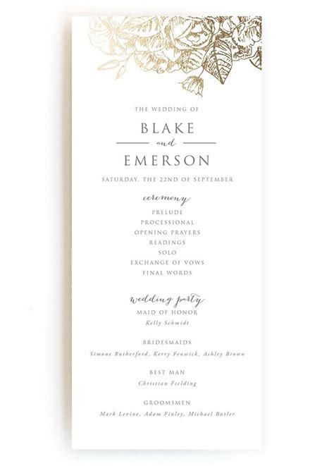 wedding programs wedding program wording