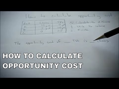 Calculating Marginal And Total Opportunity Costs