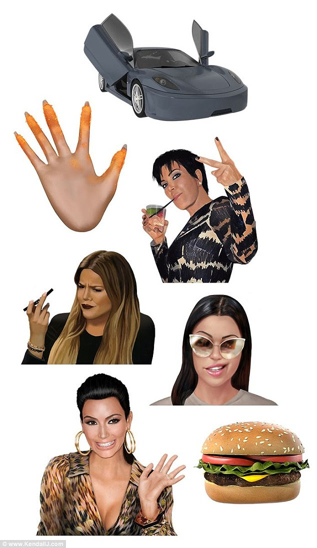 Kendall posted on her site : I'm so obsessed with the new KIMOJI Family Pack—it's too good!