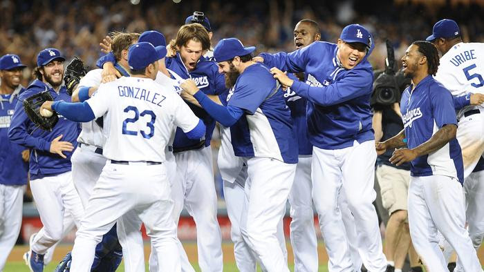 Photos: Dodgers clinch NL West title