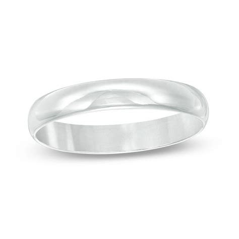 Men's 5mm Wedding Band in Sterling Silver   Size 12   View