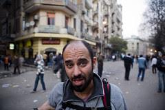 Radwan injured in the forehead by birdshot
