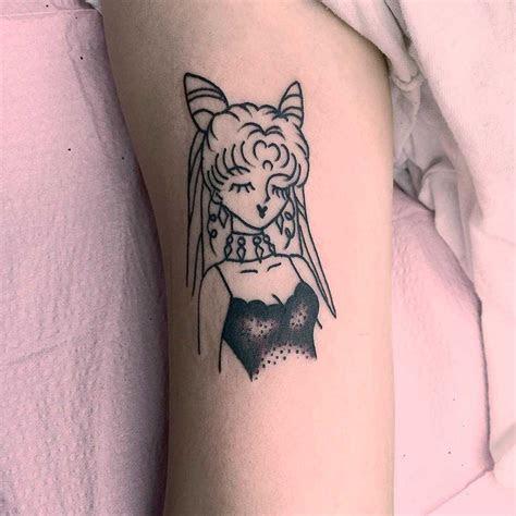small anime lady tattoo tattoogridnet