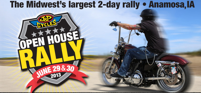 You're invited to the J&P Cycles Open House Rally!