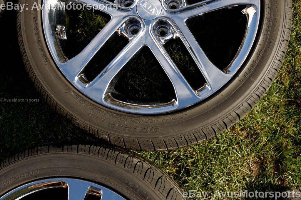 2013 Kia Optima Sxl 18 Chrome Factory Oem Wheels Tires Soul Amanti 2012 2011 Ebay