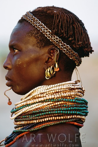 Africa | Nyangatom (aka Bumi) woman, Murle Region, Ethiopia | © Art Wolfe.