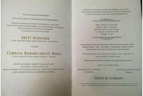 isi undangan pernikahan putra jokowi republika
