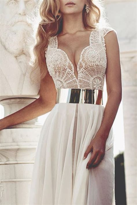 Lace dress with gold belt   Outfits   Pinterest   Wedding