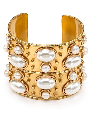Sylvia Toledano Byzance Cuff with Faux Pearls