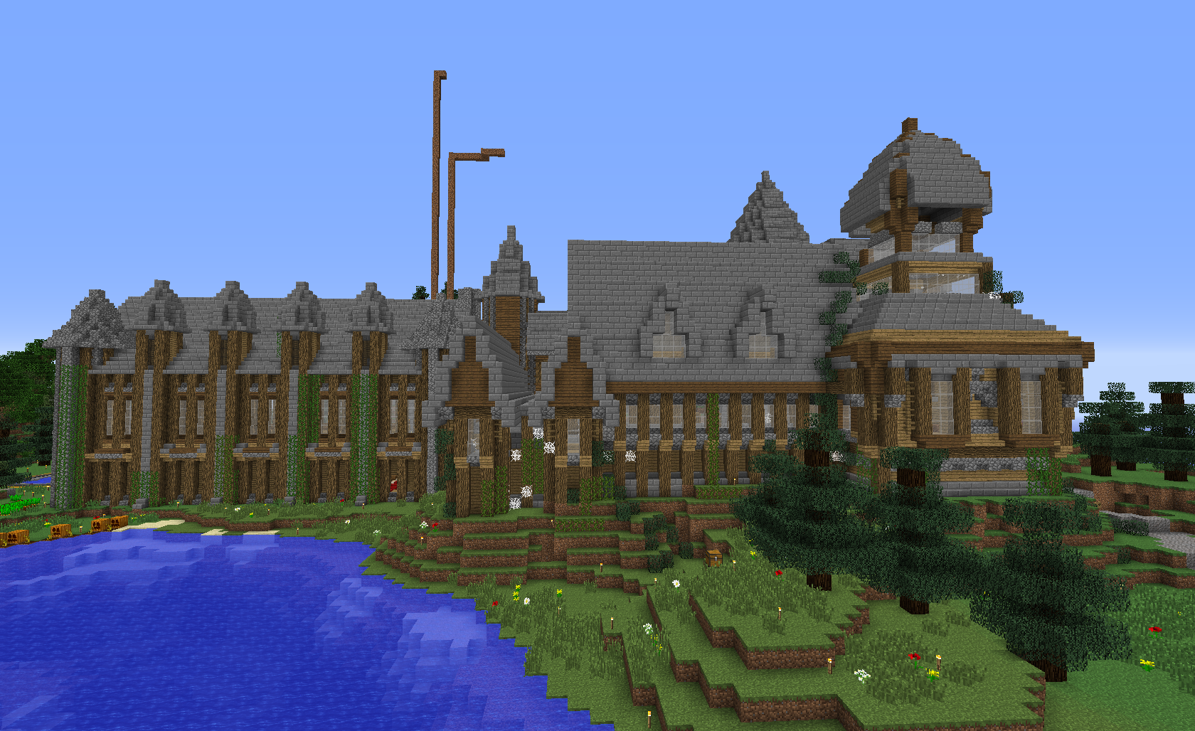 Made This Haunted House For The Halloween Party On My Vanilla Server It Was A Hit Minecraft