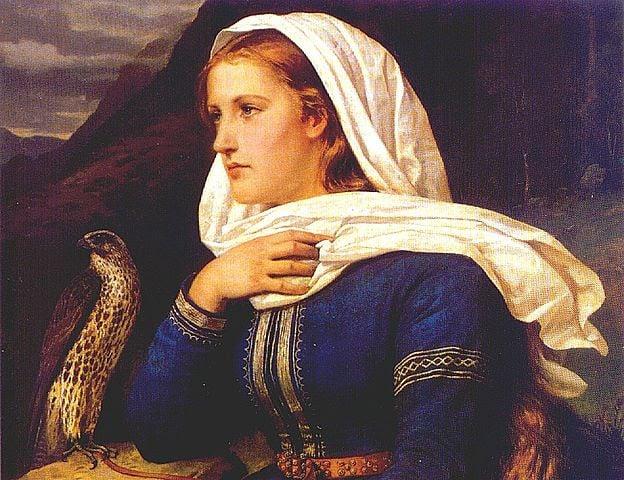 Ingeborg - Norse mythology - painting by Peter Nicolai Arbo (1831-1892)