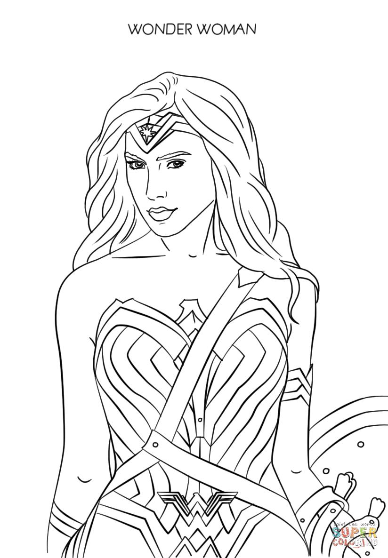 Dibujo De Mujer Maravilla 2017 Para Colorear Dibujos Para Colorear