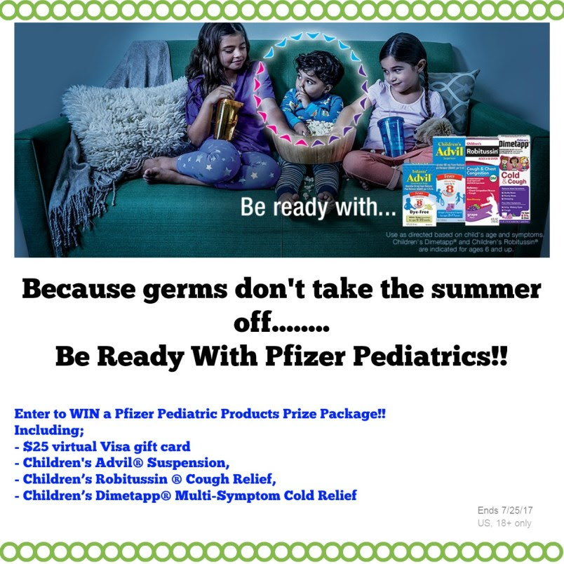 $25 Visa GC & Pfizer Pediatrics Prize Package Giveaway! #SickJustGotReal (ends 7/25)