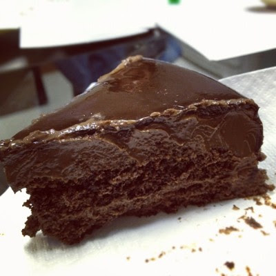 Super rich dark chocolate cake!! I'm in love! 😍 (Taken with Instagram at Delifrance NUH)
