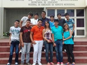 Alunos de Itaíba aprovados no Programa Ganhe o Mundo. (Foto: Paulo Bruno/ Divulgação)