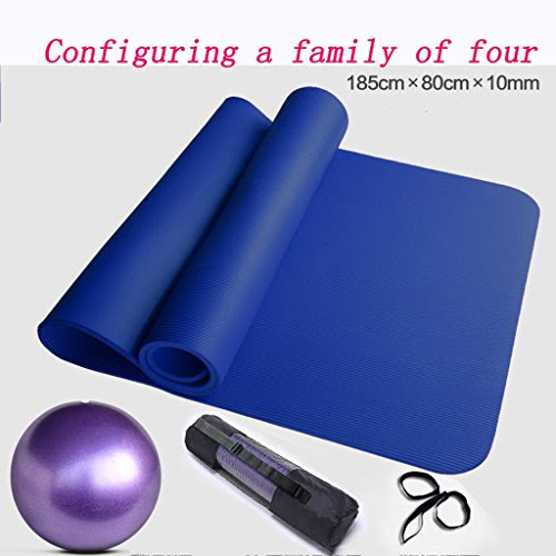 [GYD] Widened 90cm Lengthened 200cm Thick Yoga Mat Fitness Mat Exercise Mat Widening Beginners ( Size : Four )