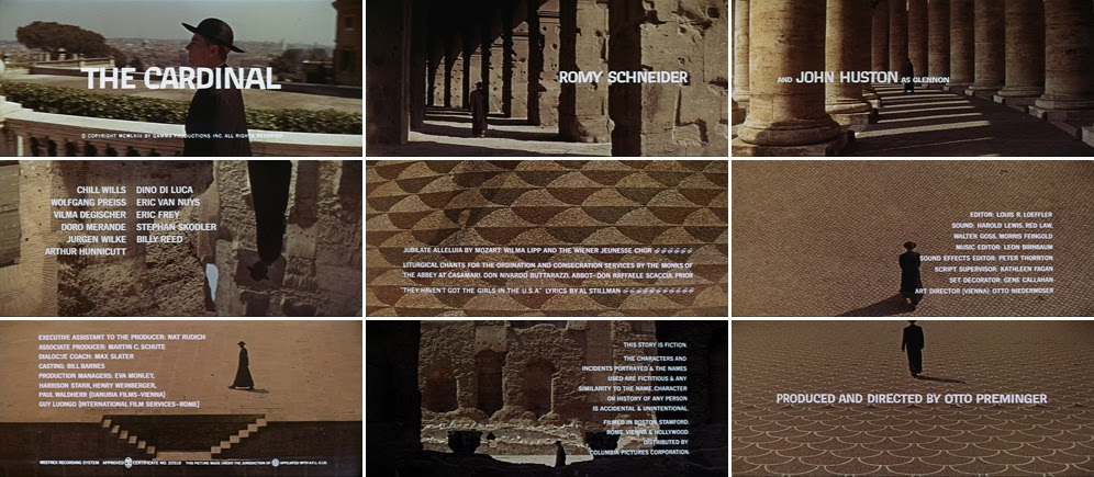 Saul Bass The cardinal 1963 title sequence